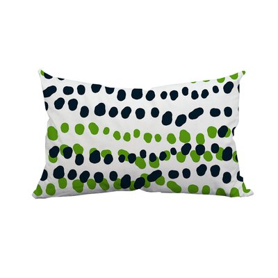 Connect the Polka Dots Indoor/Outdoor Lumbar Pillow Color: Green