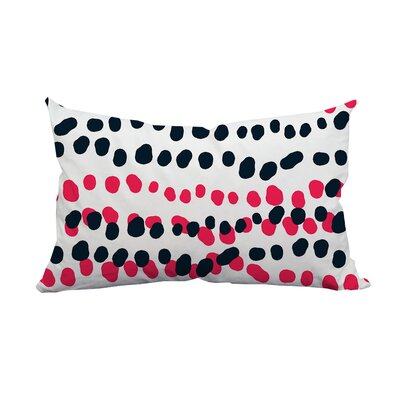 Connect the Polka Dots Indoor/Outdoor Lumbar Pillow Color: Pink