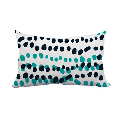 Connect the Polka Dots Indoor/Outdoor Lumbar Pillow Color: Blue