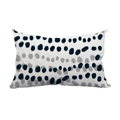 Connect the Polka Dots Indoor/Outdoor Lumbar Pillow Color: Gray