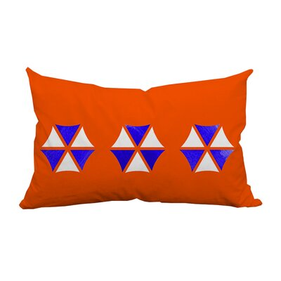 Umbrella Trio Graphic Indoor/Outdoor Lumbar Pillow Color: Orange