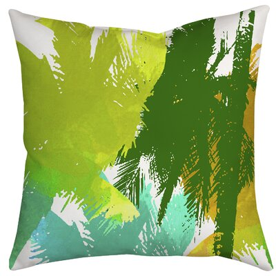 Coconut Tree Array Graphic Indoor/Outdoor Throw Pillow Size: 18 H x 18 W x 2 D