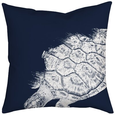 Turtle Watercolor Graphic Throw Pillow Size: 18