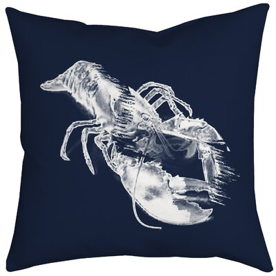 Lobster Watercolor Graphic Throw Pillow Size: 20 H x 20 W x 2 D