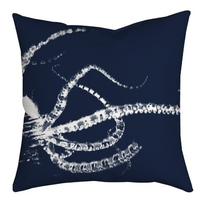 Octopus Watercolor Graphic Throw Pillow Size: 18