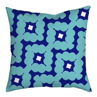 Diamond-Shaped Cloud Geometric Throw Pillow Size: 18 H x 18 W x 2 D, Color: Blue
