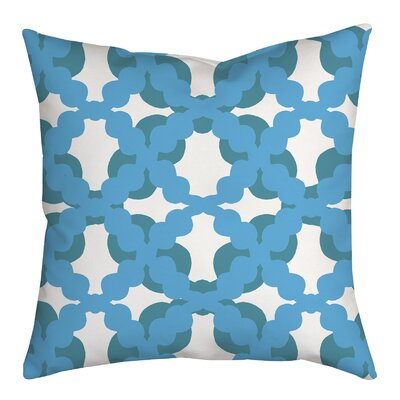 Lattice Fence Geometric Throw Pillow Size: 18 H x 18 W x 2 D, Color: Blue