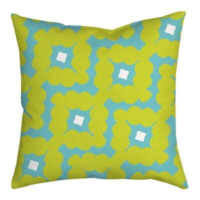 Diamond-Shaped Cloud Geometric Throw Pillow Size: 20 H x 20 W x 2 D, Color: Green