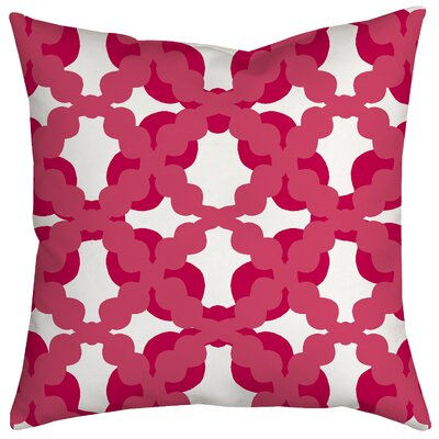Lattice Fence Geometric Throw Pillow Size: 18 H x 18 W x 2 D, Color: Pink