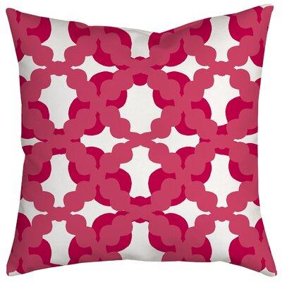 Lattice Fence Geometric Throw Pillow Size: 18 H x 18 W x 2 D, Color: Pink
