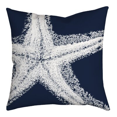 Spongy Starfish Watercolor Graphic Throw Pillow Size: 18 H x 18 W x 2 D