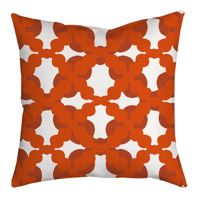 Lattice Fence Geometric Throw Pillow Size: 20 H x 20 W x 2 D, Color: Orange