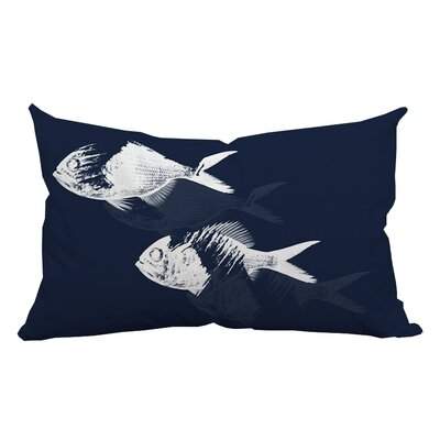 Fish Watercolor Graphic Lumbar Pillow