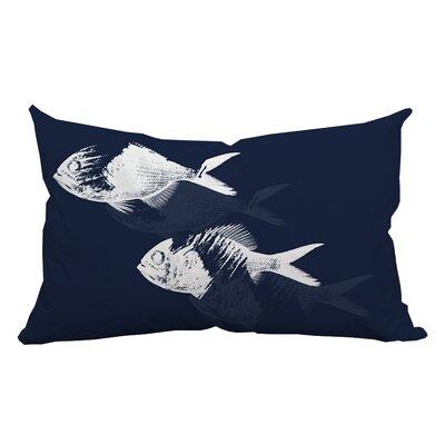 Fish Watercolor Graphic Lumbar Pillow
