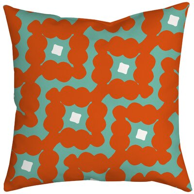 Diamond-Shaped Cloud Geometric Throw Pillow Size: 20 H x 20 W x 2 D, Color: Orange