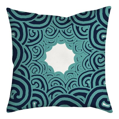 Beach Swirl on Geometric Throw Pillow Size: 18
