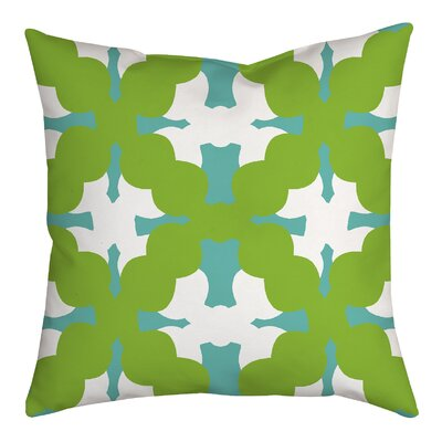 Boldly Geometric Throw Pillow Size: 18 H x 18 W x 2 D, Color: Green