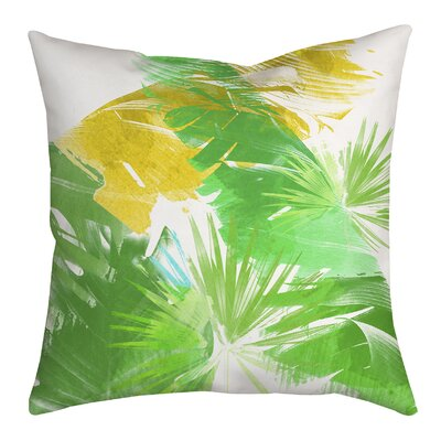 Trinidad Leaves and Palms Graphic Throw Pillow Size: 18 H x 18 W x 2 D