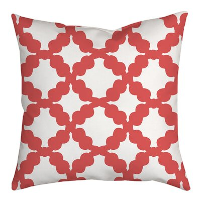 Simply Geometric Throw Pillow Size: 18 H x 18 W x 2 D, Color: Pink