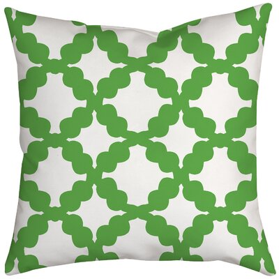 Simply Geometric Throw Pillow Size: 20 H x 20 W x 2 D, Color: Green