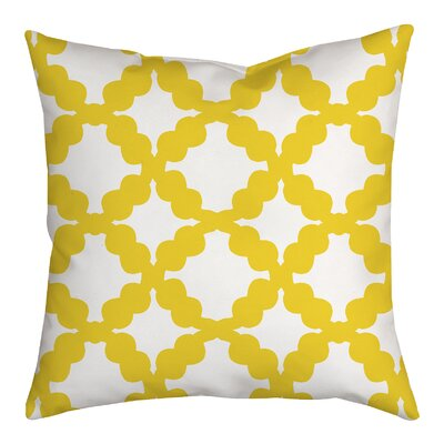 Simply Geometric Throw Pillow Size: 18 H x 18 W x 2 D, Color: Yellow