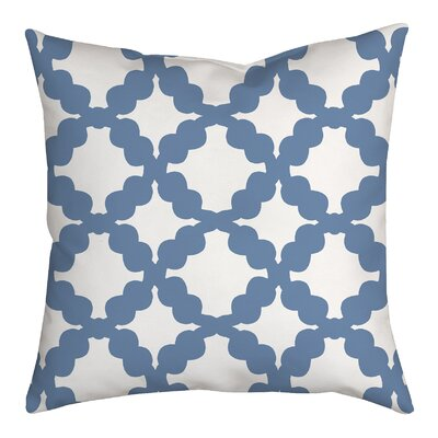 Simply Geometric Throw Pillow Size: 18 H x 18 W x 2 D, Color: Blue