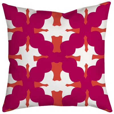 Boldly Geometric Throw Pillow Size: 18 H x 18 W x 2 D, Color: Pink