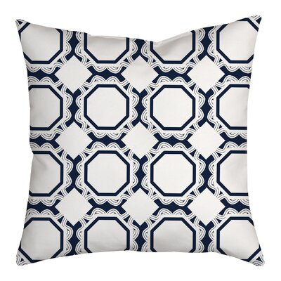 Simple Tile Repeat Geometric Throw Pillow Size: 20 H x 20 W x 2 D, Color: Navy