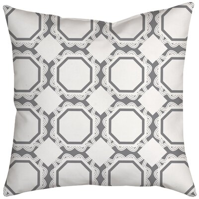 Simple Tile Repeat Geometric Throw Pillow Size: 20 H x 20 W x 2 D, Color: Gray