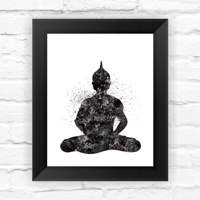 Buddha Yoga Pose Watercolor Framed Graphic Art DNSTUDIOSN259-8x10