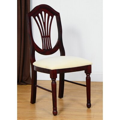 Side Chair Finish: Dark Mahogany