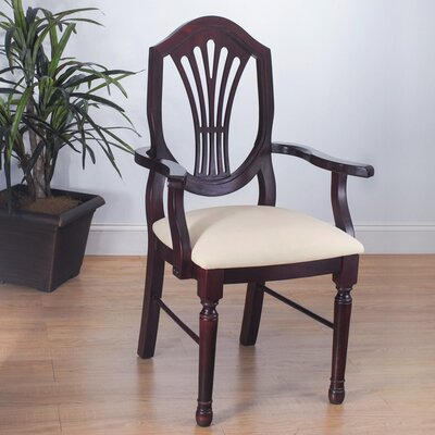 Elegant Arm Chair Finish Dark Mahogany
