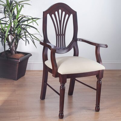 Elegant Arm Chair Finish Medium Oak