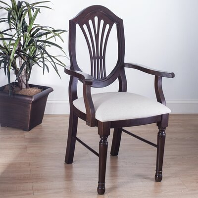 Elegant Arm Chair Finish Walnut