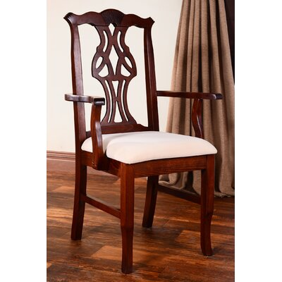 Chippendale Arm Chair Finish: Medium Oak