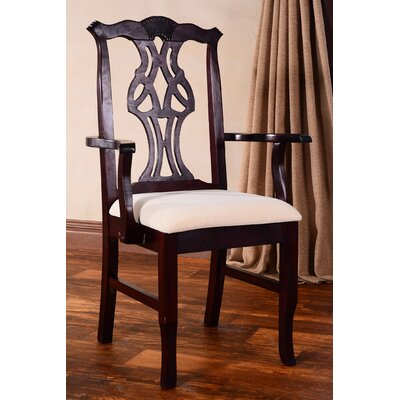 Chippendale Arm Chair Finish: Dark Mahogany