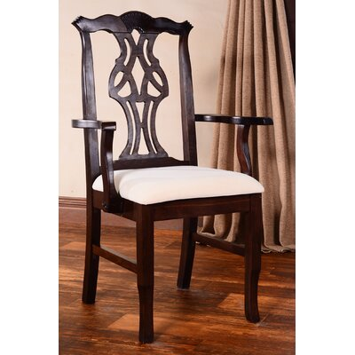 Chippendale Arm Chair Finish: Walnut