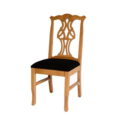 Chippendale Upholstered Dining Chair Color: Natural