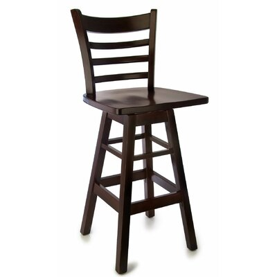 30 Swivel Bar Stool Finish: Dark Mahogany