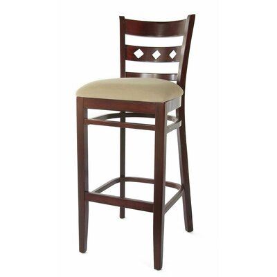 Ewell 30 Bar Stool Finish: Dark Mahogany