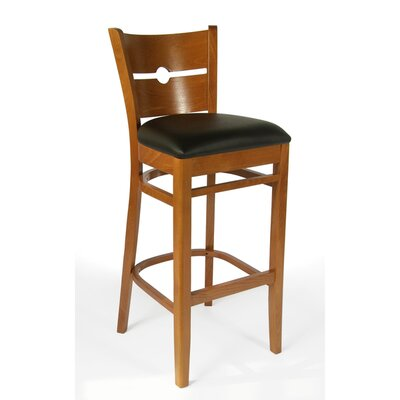 30 Bar Stool Frame Color: Cherry, Seat Color: Black