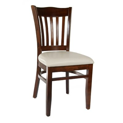 Darlington Side Chair (Set of 2) Upholstery Color: Cream, Frame Color: Medium Oak