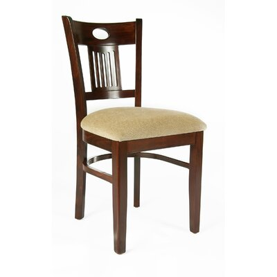 Violin Side Chair (Set of 2) Finish: Walnut, Upholstery: Wheat Microfiber