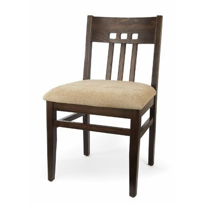 Matchstick Side Chair (Set of 2) Finish: Walnut, Upholstery: Wheat