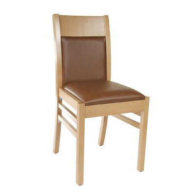 Coco Side Chair Finish: Natural, Upholstery: Brown
