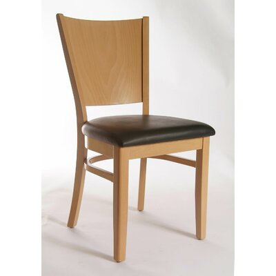 Winston Side Chair (Set of 2) Upholstery: Faux Leather - Black, Finish: Natural