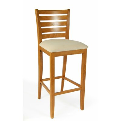 Sisley 30 Bar Stool Finish: Cherry, Upholstery: Cream