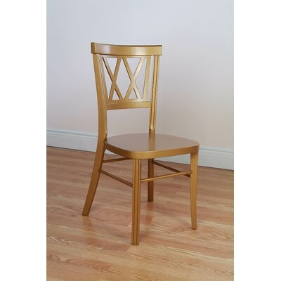 Double X Stackable Solid Wood Dining Chair (Set of 2)
