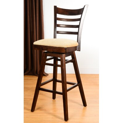 30 Swivel Bar Stool Finish: Walnut