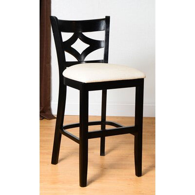 Fralick 24 Bar Stool Finish: Black